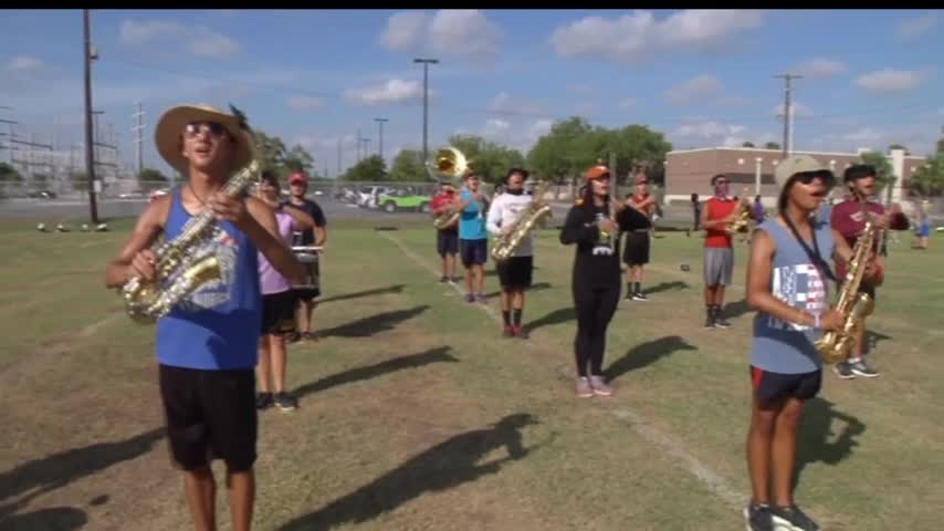 HS Marching Band Perfects Routine in High Temperatures_22088120-159532