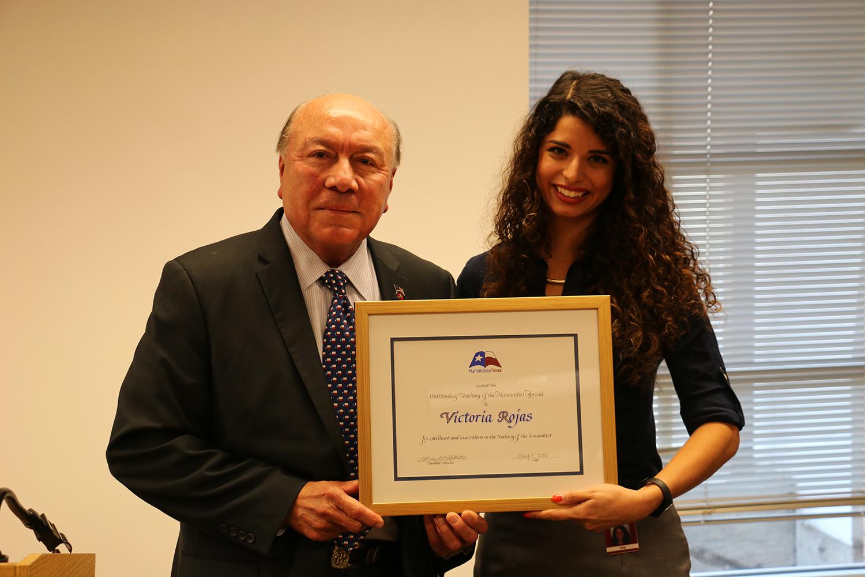 Victoria Rojas award pic with Senator_1476808086061.jpg