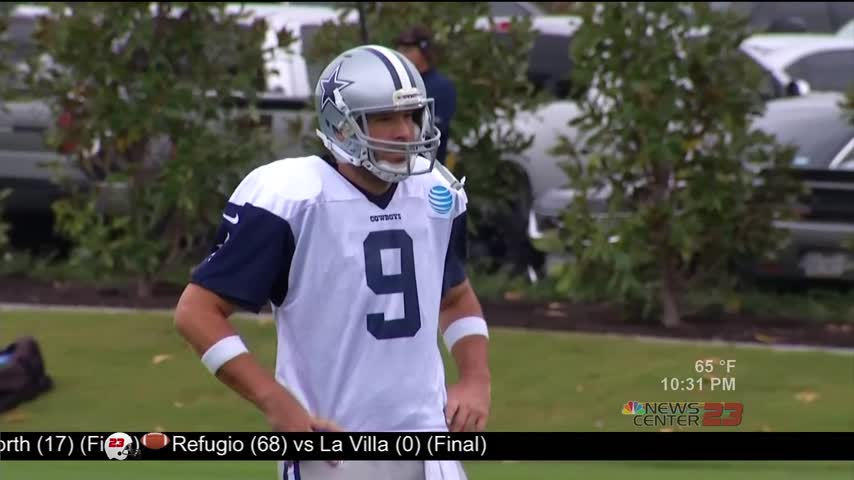 Cowboys vs- Steelers- Romo Practices but will not play_78772250-159532