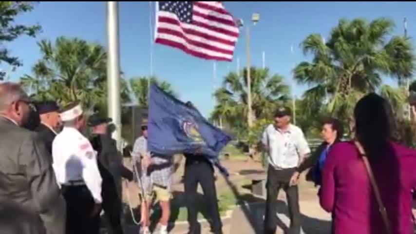 Vietnam War Era American Flag Makes Stop in McAllen_48514780