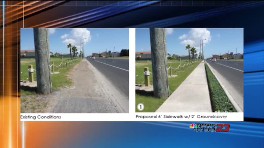 SPI sidewalk improvement