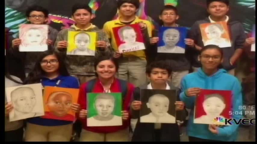 Valley Students Draw Portraits of African Children