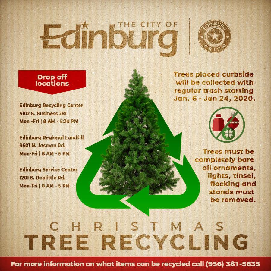 Recycle Christmas Lights 2020 Near Me City of Edinburg offering Christmas tree recycling | KVEO TV