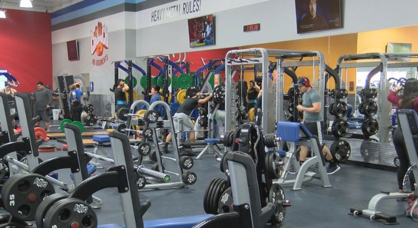 People working out in the gym..JPG