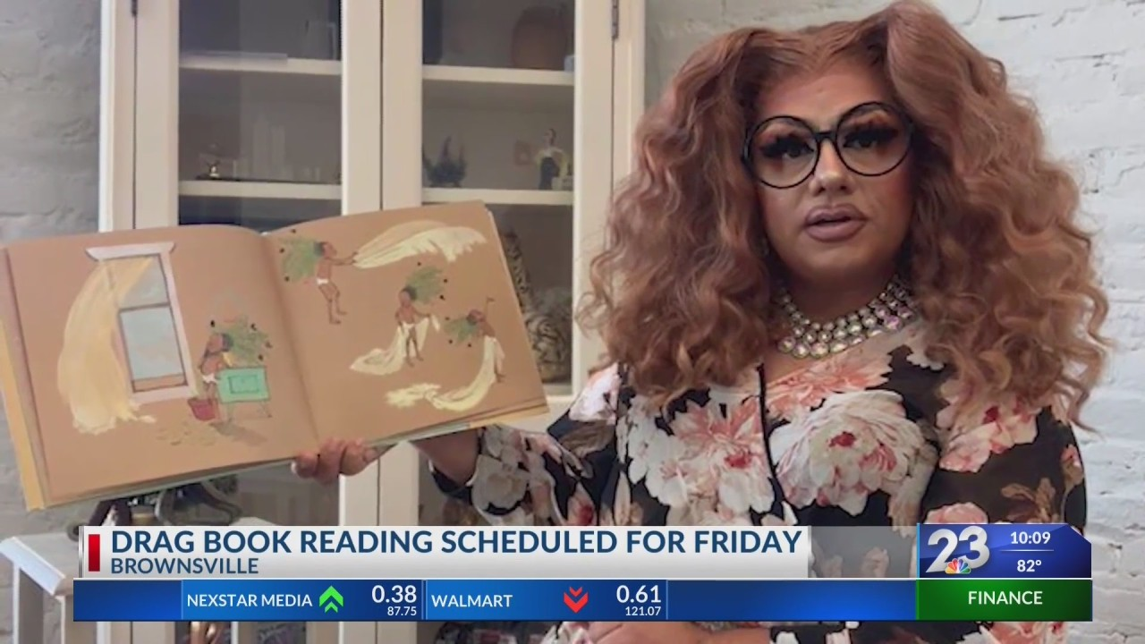 Drag queen book reading gains support from city