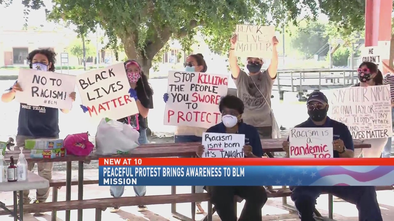 Peaceful protest brings awareness to Black lives matter