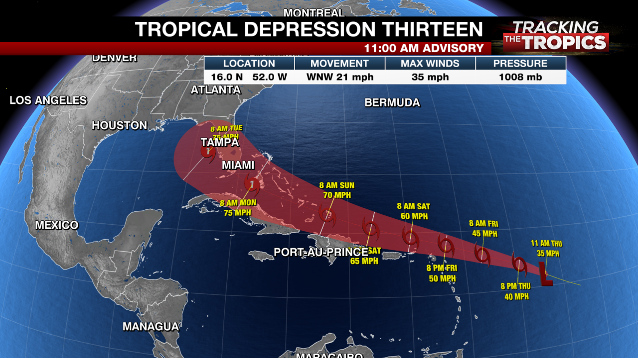 Tracking The Tropics Tropical Depressions 13 And 14 Expected To Become Laura Marco Kveo Tv