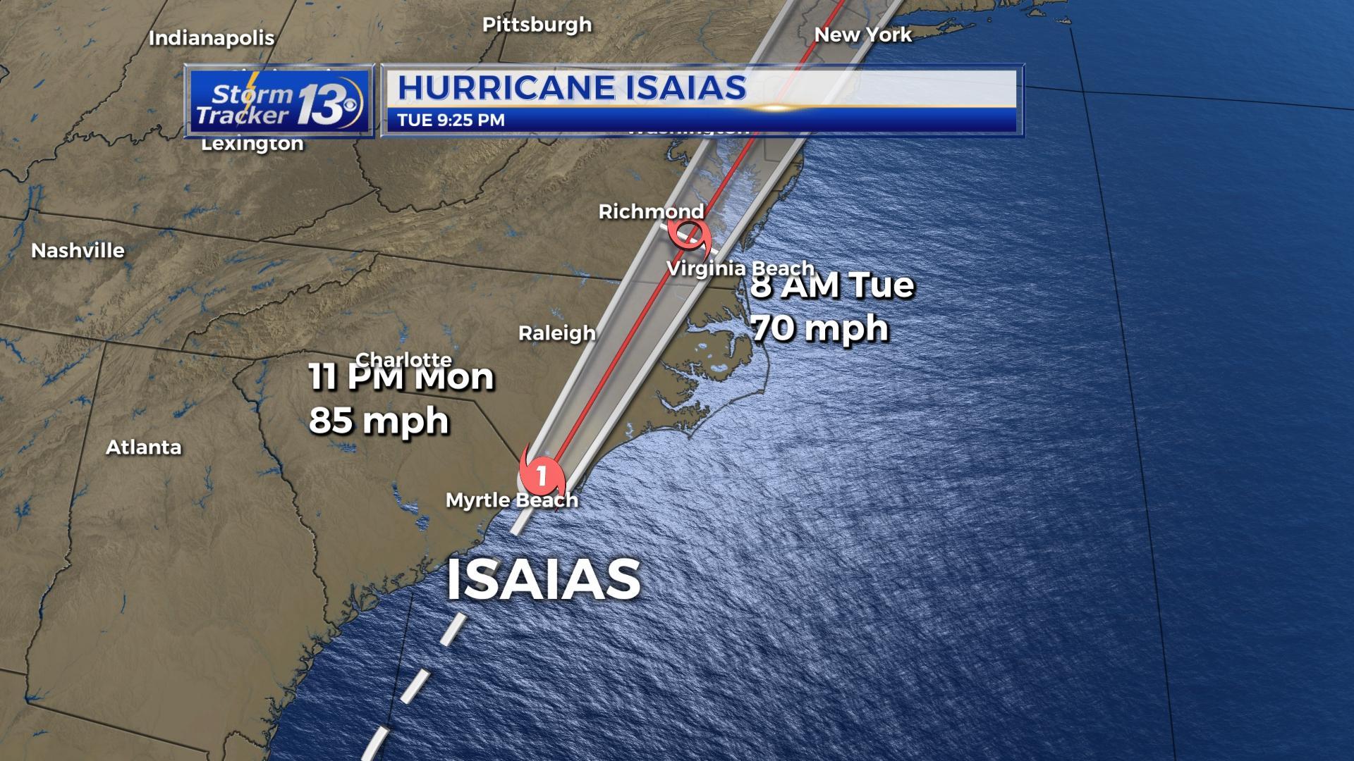 Hurricane Isaias Weakens To Tropical Storm Hours After Making Landfall At Ocean Isle Beach Kveo Tv