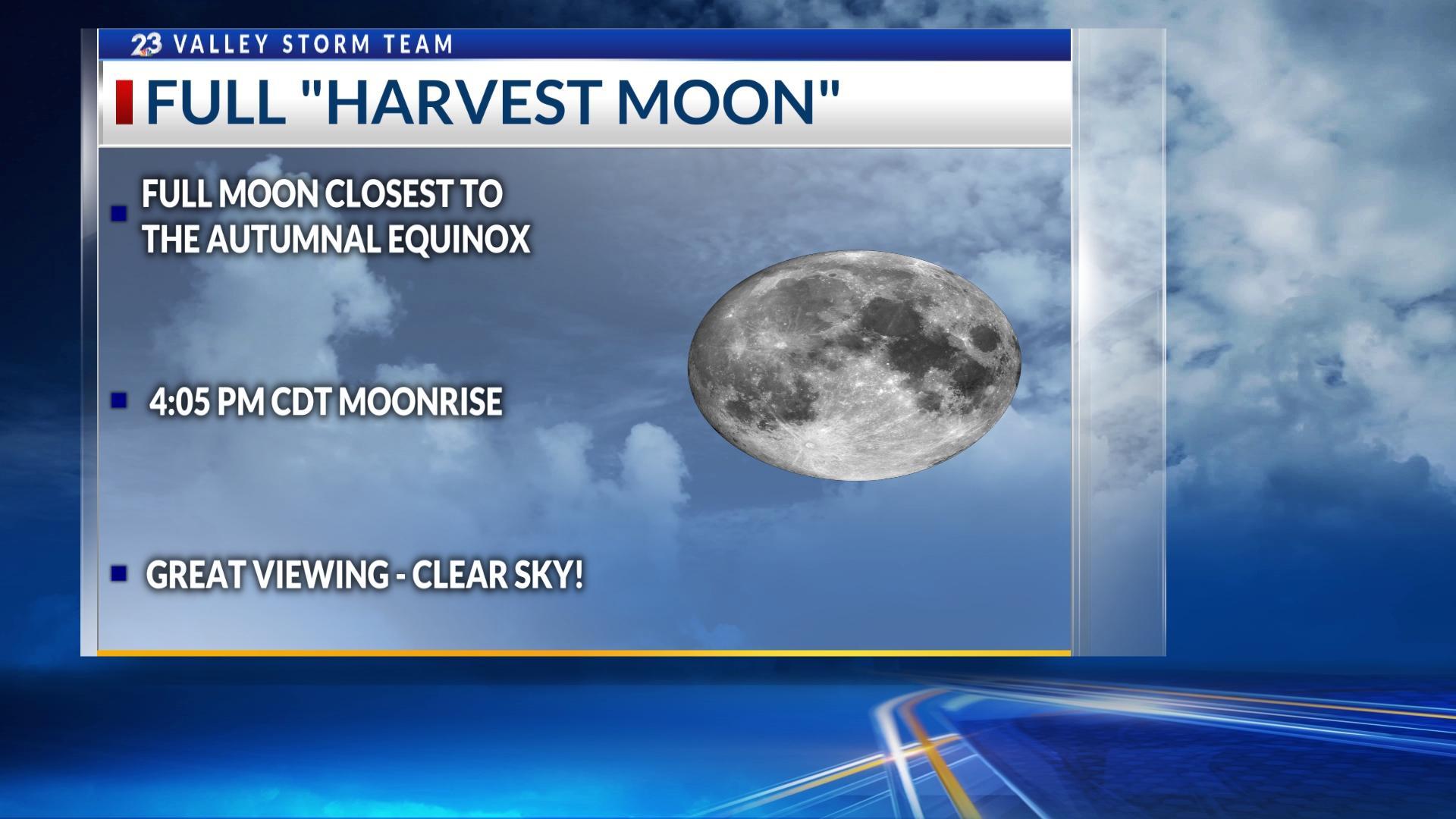 Full Harvest Moon Tonight Rare Blue Moon On Halloween Kveo Tv