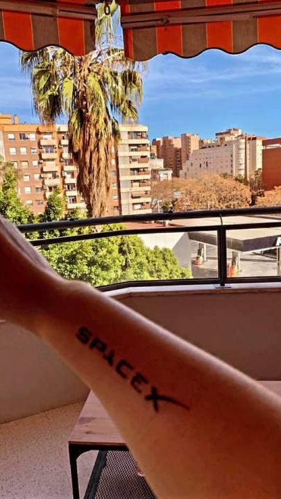 - Space X tattoo 2 - Spaniard Space X enthusiast gets company logo tattooed